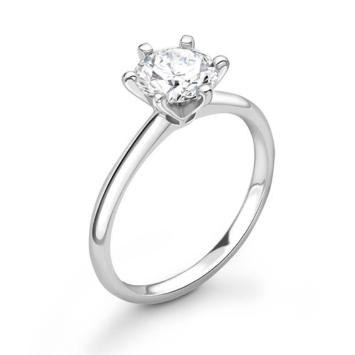 0.50ct Diamond Solitaire Six Claw Ring