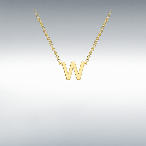 9ct Yellow Gold Initial W