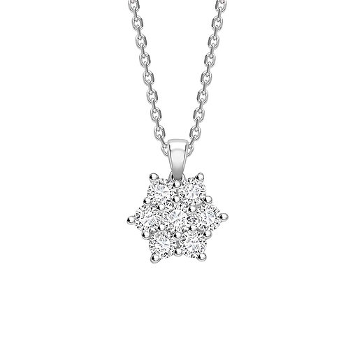 0.35ct Diamond Flower Pendant