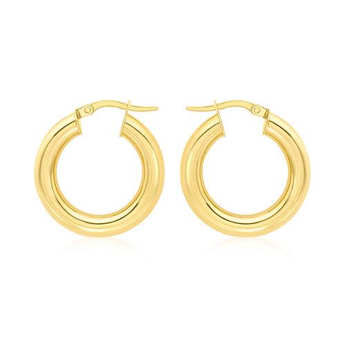 9ct Yellow Gold 22mm Creole Hoop Earrings