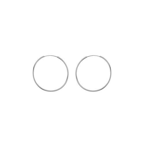 Sterling Silver 16mm Thin Hoop Earrings