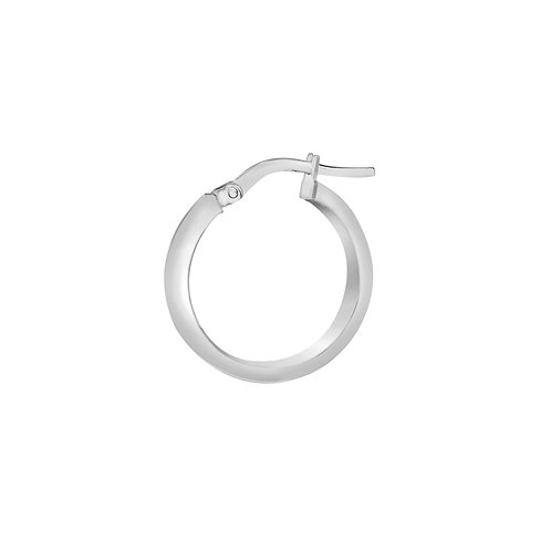 9ct White Gold 15mm Creole Hoop