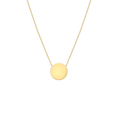 Gold Plate over Sterling Silver Disc Pendant