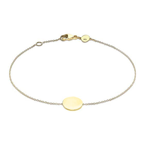 9ct Yellow Gold Disc Bracelet