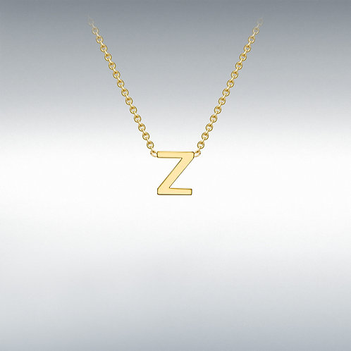 9ct Yellow Gold Initial Z