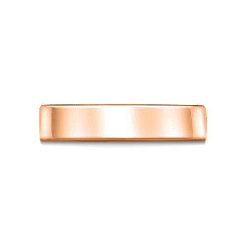5mm Flat Court Shaped Band in 9ct Rose Gold