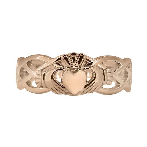 10ct Rose Gold Ladies Unity Ring