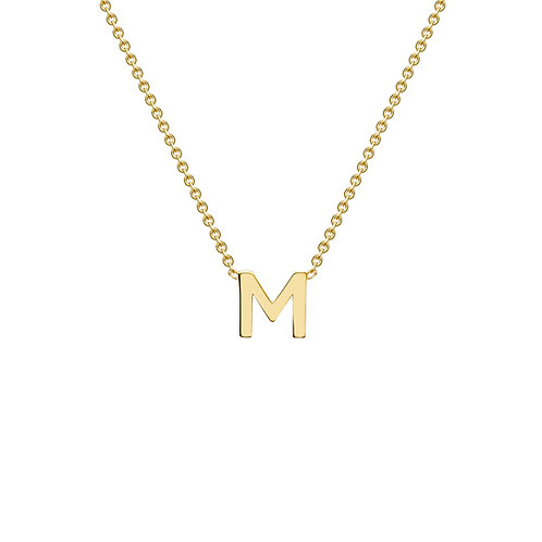 9ct Yellow Gold Initial M