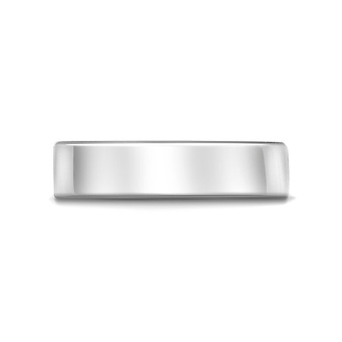 6mm Flat Court Band in 9ct White Gold