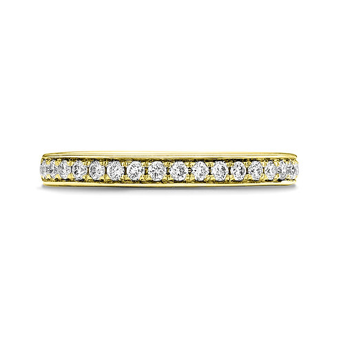 Grain Set Diamond Band in 18ct YG