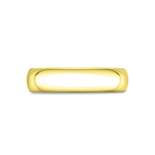 5mm Court Shaped Band in 18ct Yellow Gold