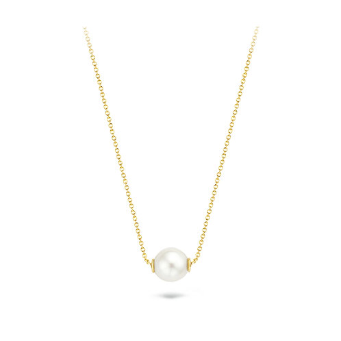 14ct Yellow Gold Floating Pearl Necklace