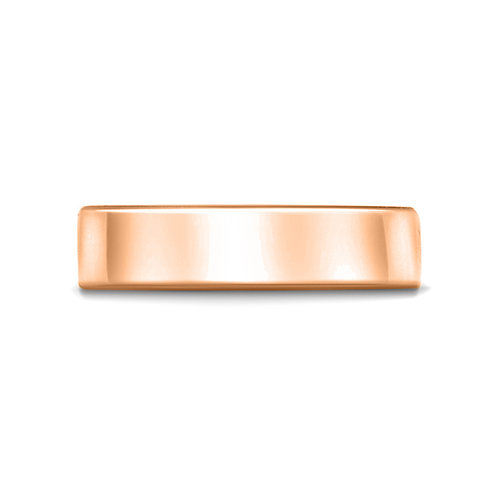 6mm Flat Court Shaped Band in 9ct Rose Gold