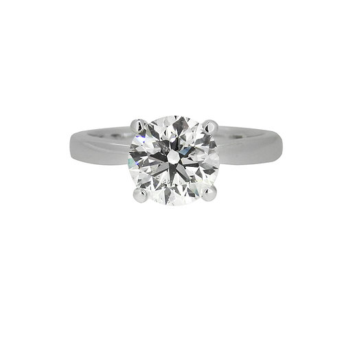 18ct White Gold 1.51ct Diamond Solitaire Ring