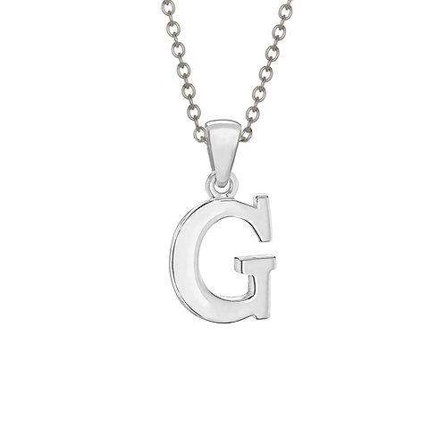 Sterling Silver Letter G Pendant