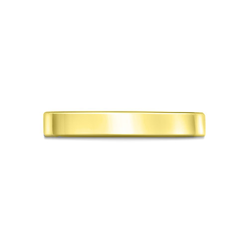 2mm Flat Court Shaped Band in 9ct Yellow Gold