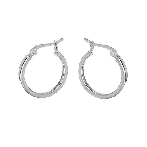 Sterling Silver 20mm Box Wire Creole Earrings