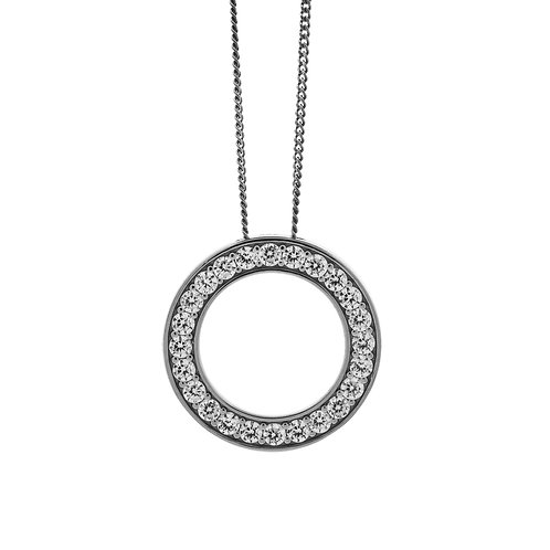 Sterling Silver Circle of Life CZ Pendant