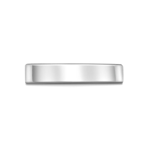 4mm Flat Court Band in 9ct White Gold