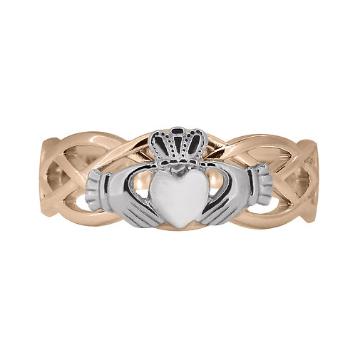 10ct Rose and White Gold Ladies Unity Ring
