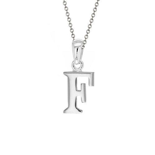 Sterling Silver Letter F Pendant