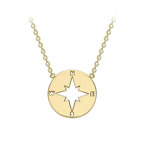 9ct Yellow Gold Compass Necklace