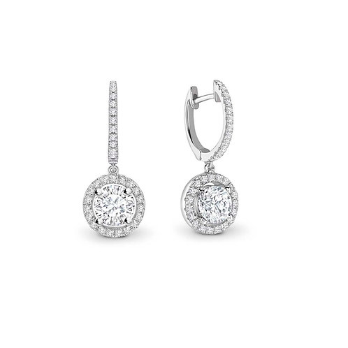 1.04ct Diamond Drop Earrings