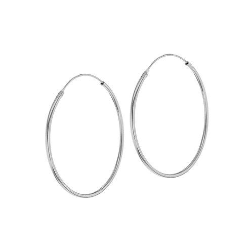 Sterling Silver 40mm Classic Hoop Earrings