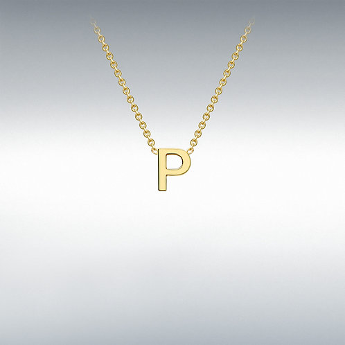 9ct Yellow Gold Initial P