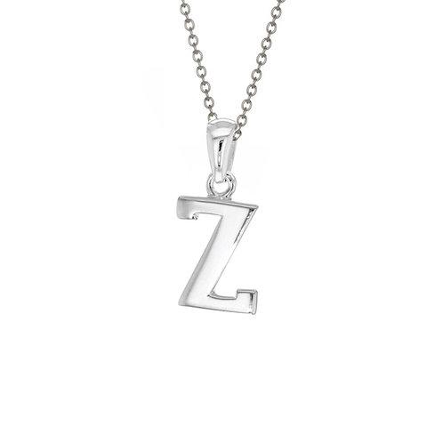 Sterling Silver Letter Z Pendant