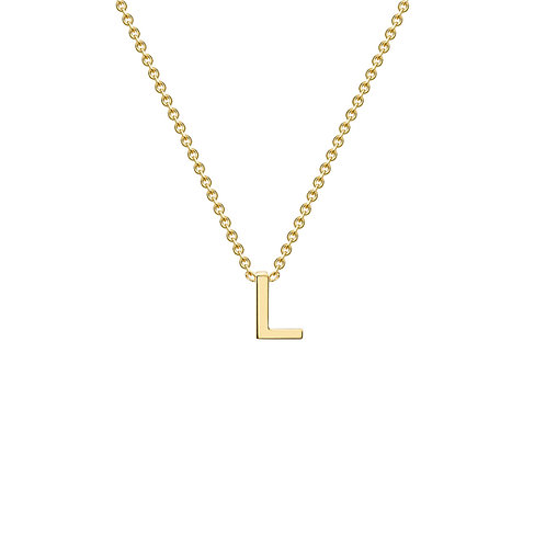 9ct Yellow Gold Initial L