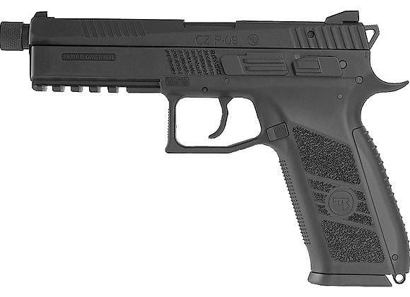 KJ WORKS CZ P-09 Tactical GBB Pistol (ASG Licensed) CO2 Version