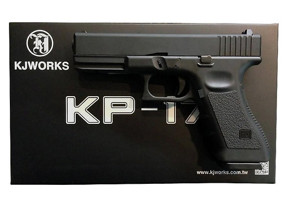 KJ WORKS KP-17 GBB Pistol Airsoft Gas Version - BLACK