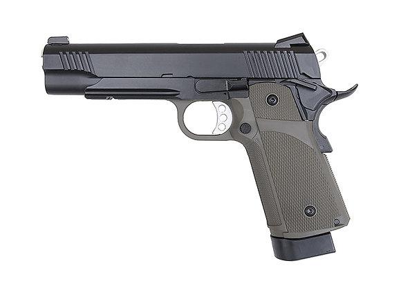 KJ Works KP-05 HI-CAPA Full Metal Black GBB Pistol OD(Gas and CO2)