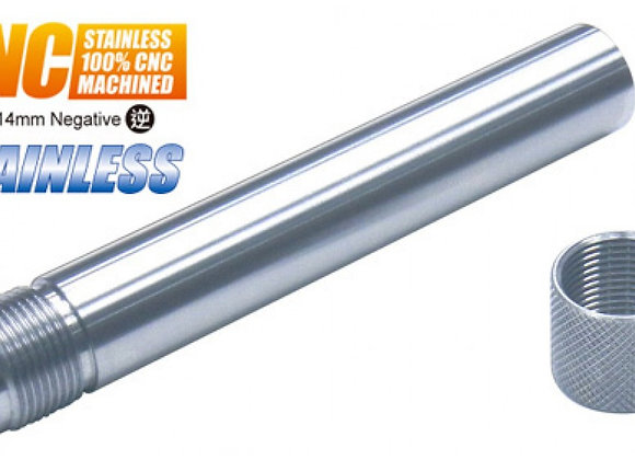 Guarder Steel Threaded Outer Barrel for Marui P226 GBB (14mm CCW, Silver)