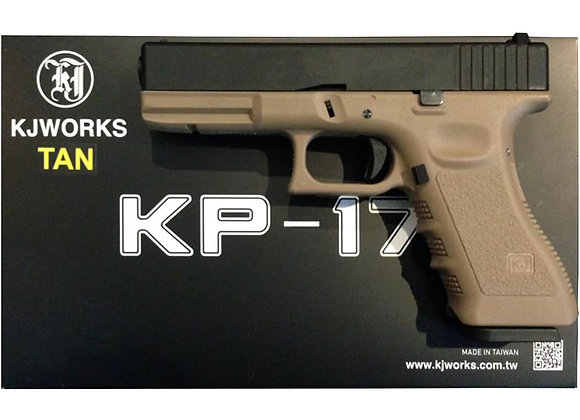KJ WORKS KP-17 GBB Pistol Airsoft Gas Version - TAN