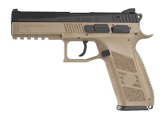 KJ WORKS CZ P-09 Duty GBB Pistol TAN (ASG Licensed) Gas Version