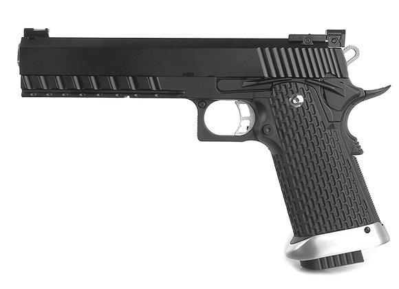 KJ Works Hi-Capa 6inch KP-06 GBB Pistol CO2 Version (Black)