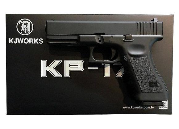 KJ WORKS KP-17 GBB Pistol Airsoft CO2 Version - BLACK