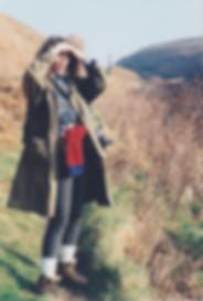 Textile Artist Jenni Cadman walking the Cornish landscape