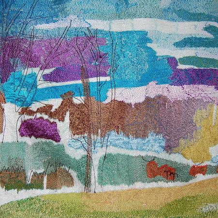 Fallow Deer By The Lake (detail)