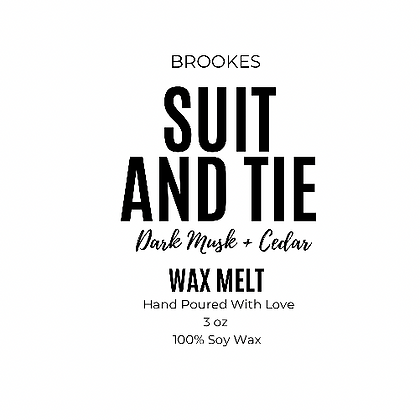 SUIT  AND TIE WAX MELT