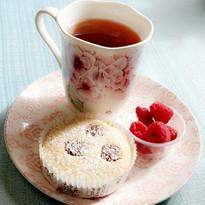 Tea & Friand (dark chocolate)