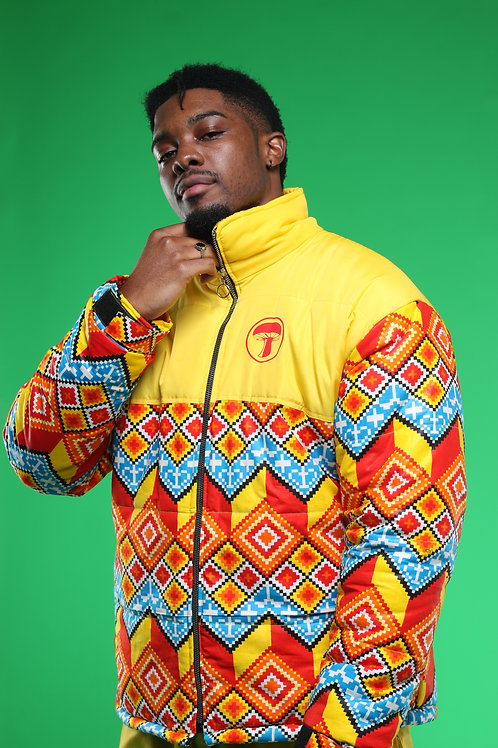 Men's Yellow Puffer Jacket