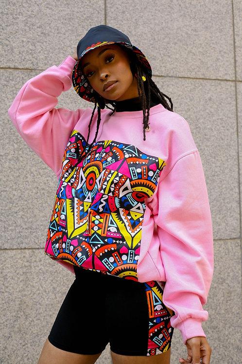 Pink Block Sweater (Unisex)