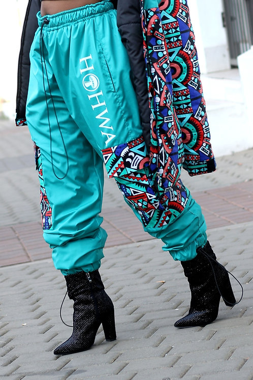 Women's Teal Trackpants