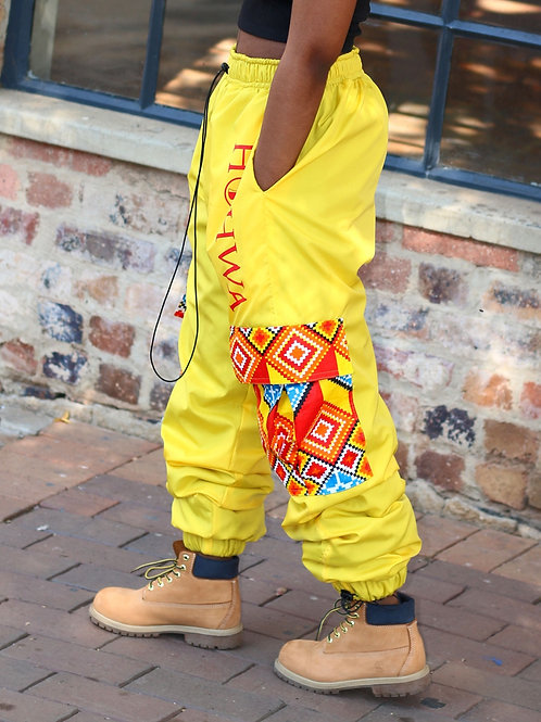 Women's Yellow Trackpants