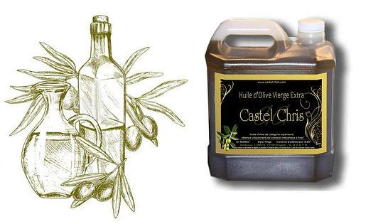 Bonbonne d'huile d'olive de 5 litres