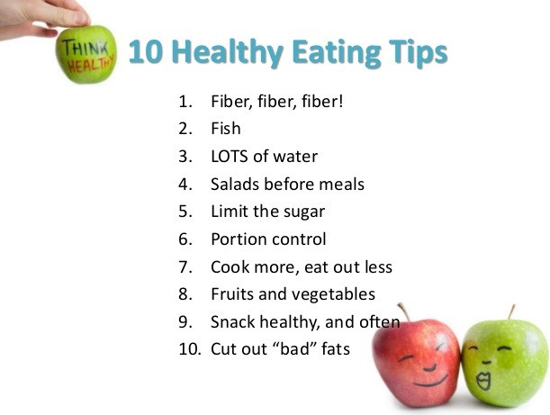 10 Healthy Eating tips
