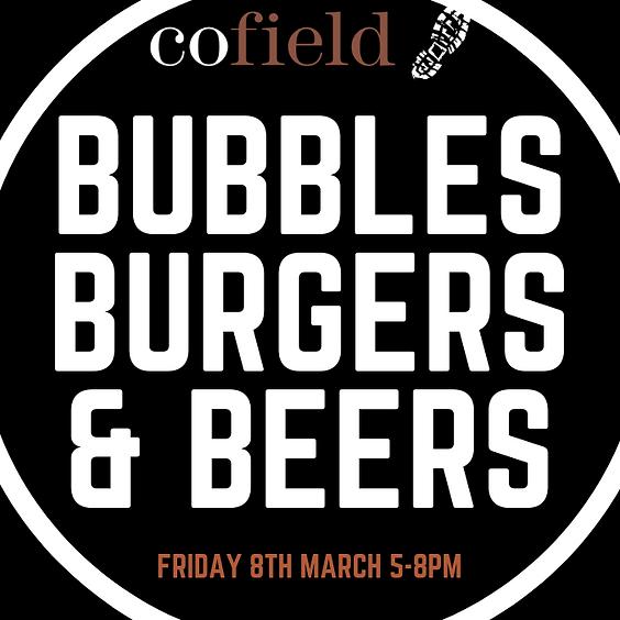 Bubbles, Burgers & Beers